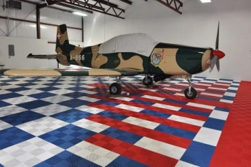 Sol pour hangar à avion