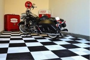 Dalle de sol pour votre garage harley davidson