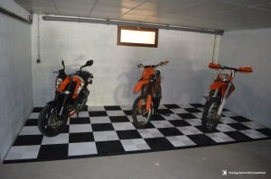 sol pour garage moto