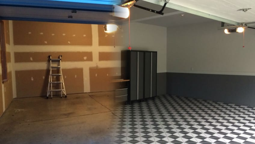 Un garage avant apr s pour une piece vivre ou une pi ce - Amenagement de garage en piece habitable ...