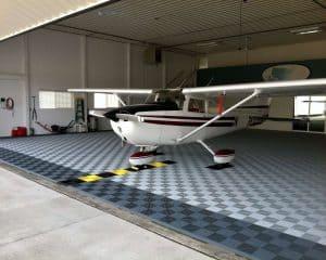 sol pour hangar avion