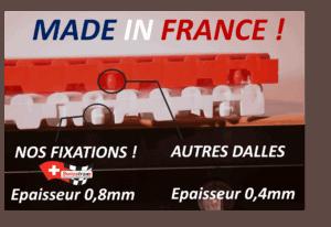 dalles clipsables fabriquées en France