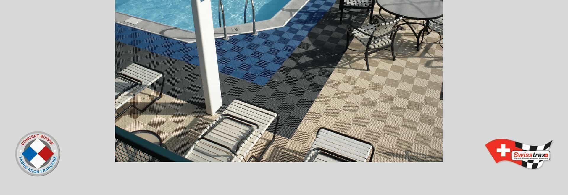 Sol pour piscine et spas