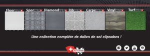 la collection de dalles Swisstrax