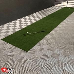 aménagement de mezzanine avec dalles de sol swisstrax