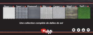 collection des dalles Swisstrax pour mezzanine
