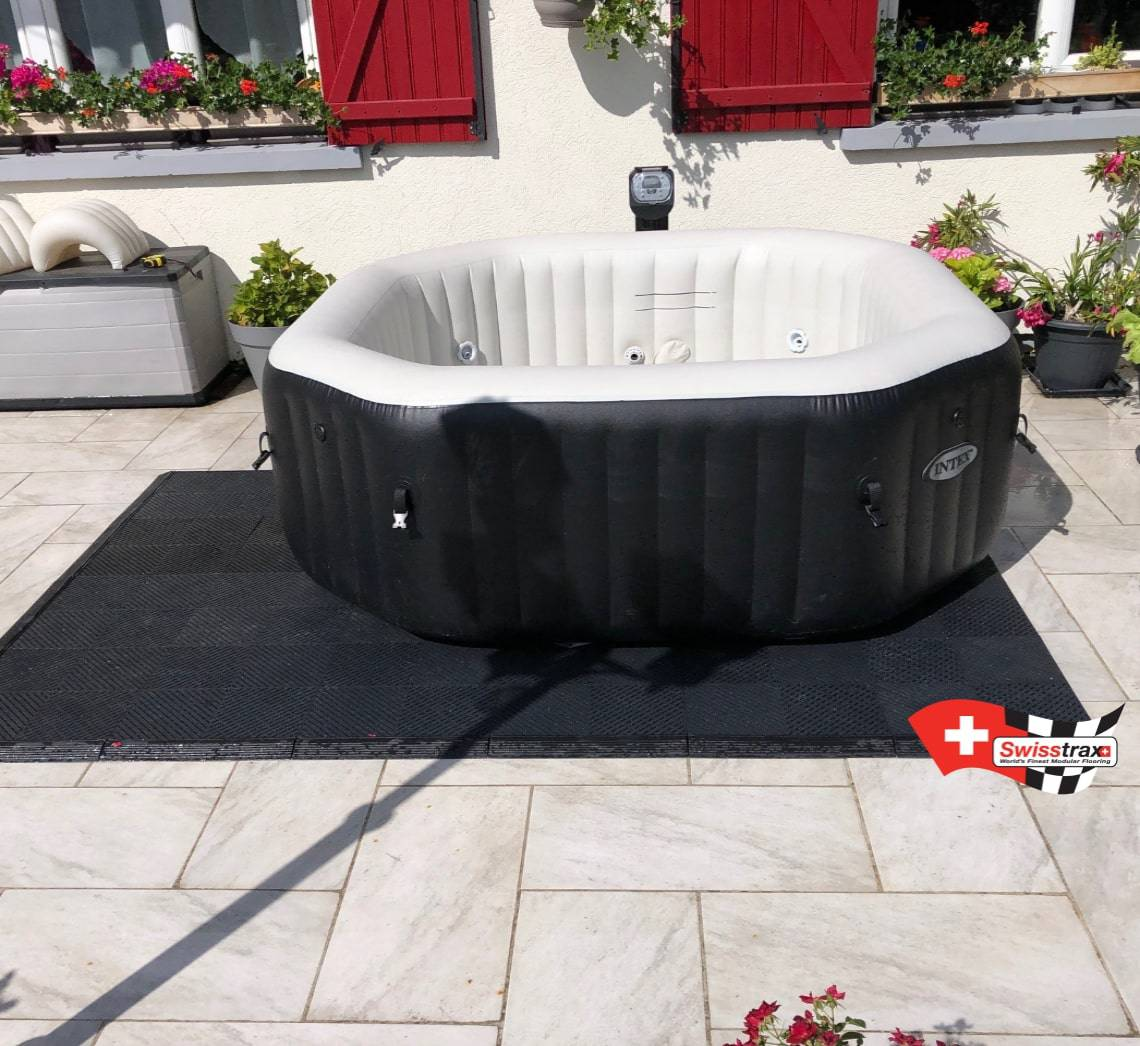 Installer Spa Gonflable Exterieur sol pour spas gonflable | 123dalle swisstrax