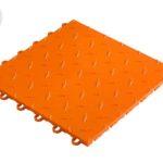dalle de sol couleur orange