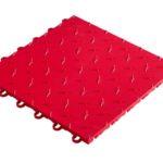 dalle de sol couleur rouge
