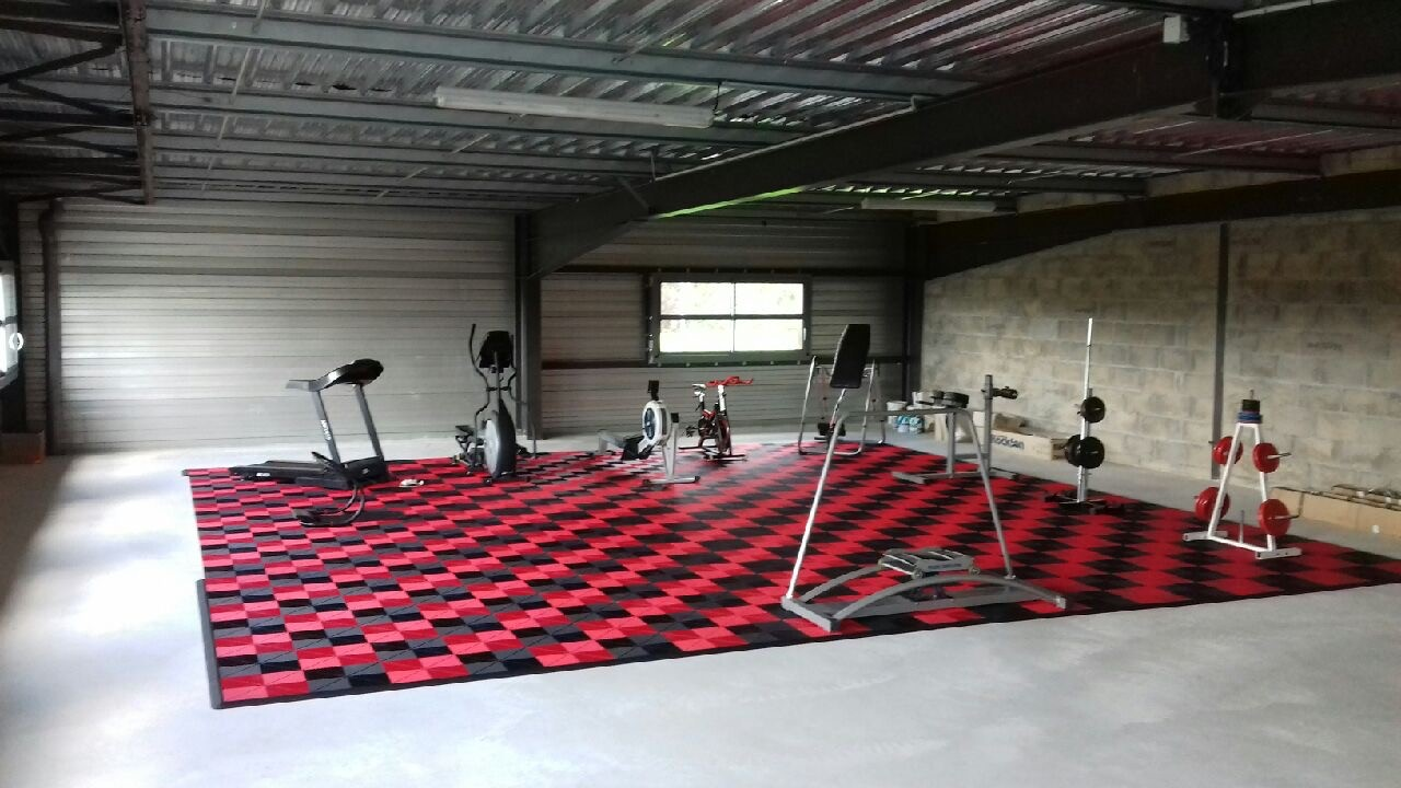sol pour salle de gym